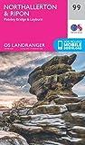 Ordnance Survey Landranger 99 Northallerton & Ripon, Pateley Bridge & Leyburn Map With Digital Version