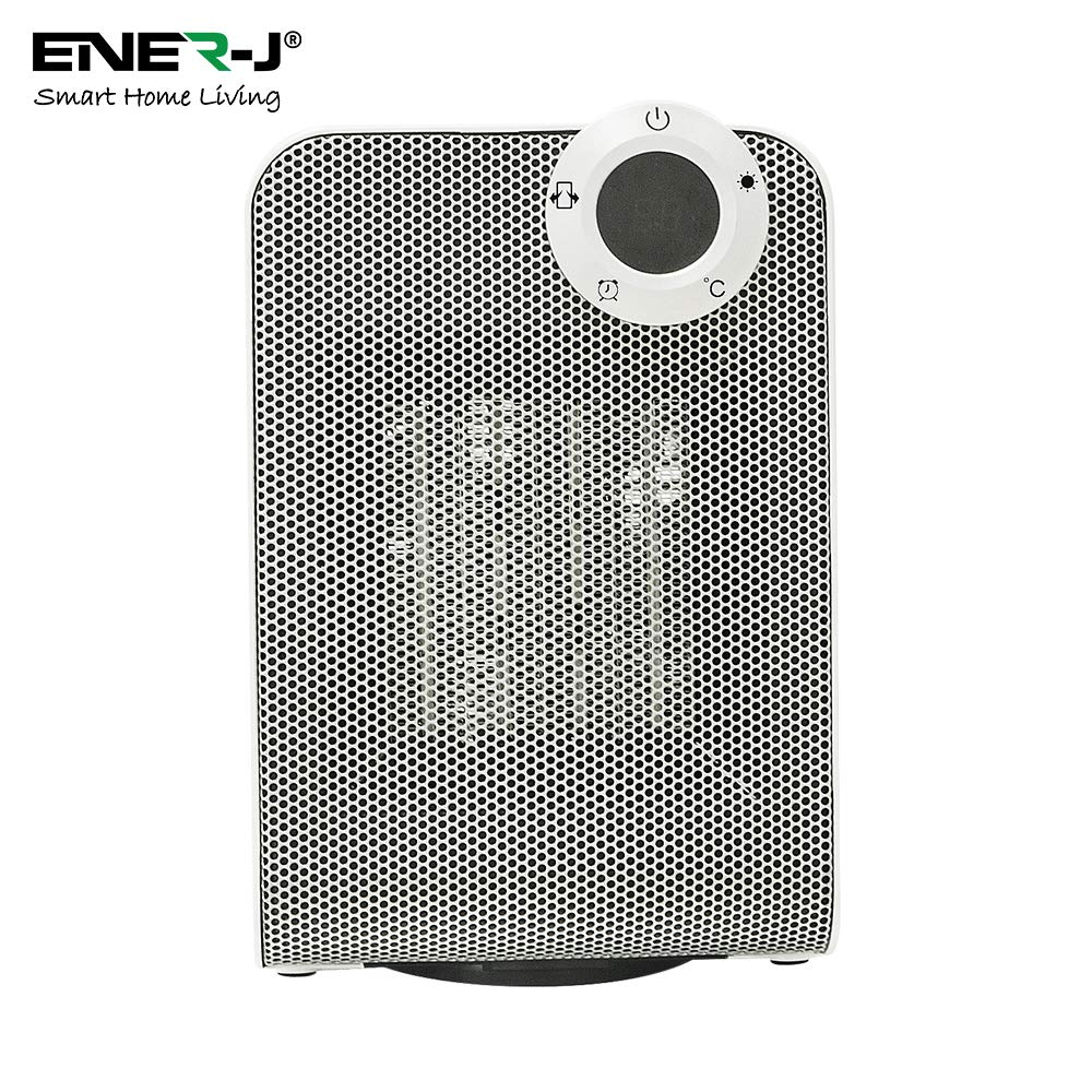 Enerj Smart Wifi Ceramic Fan Heater For Home And Office Small Portable Electric Room Heater 1800w With Thermostat App Voice Controlled Buy Online In Albania Enerj Products In Albania