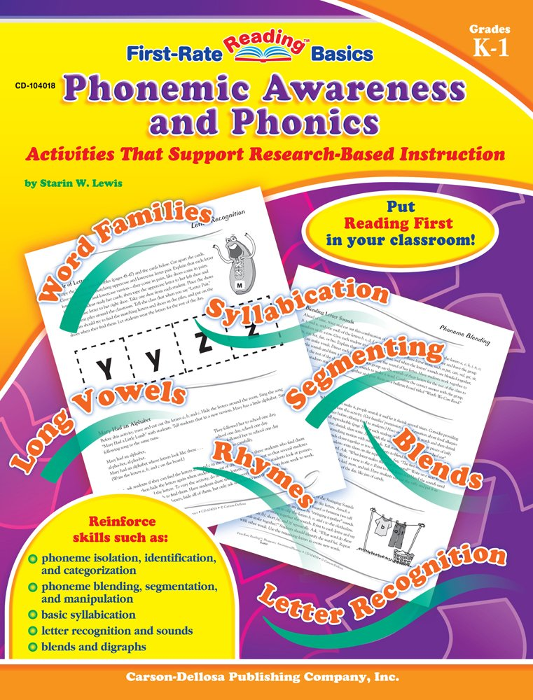 Download Phonemic Awareness and Phonics, Grades K - 1: Activities That Support Research-Based Instruction (First-Rate Reading Basics) pdf epub