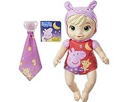 Baby Alive Boa Noite Loira, Boneca Lavável com Corpo Macio - Bebê Vestida de Peppa Pig - F2387 - Hasbro