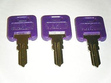 2 KEYS *KR GLOBAL LINK G304 PURPLE BAGGAGE DOOR KEYS