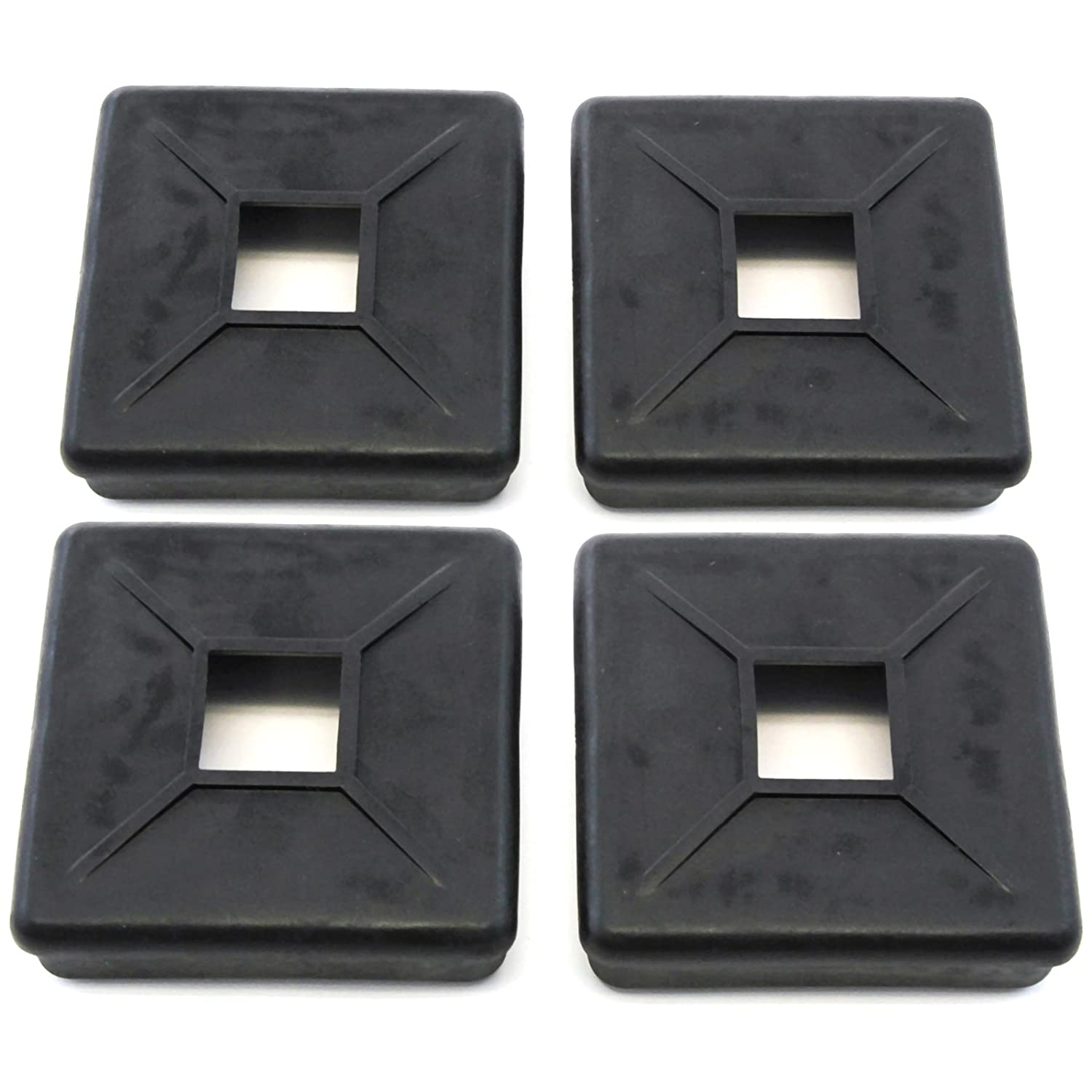 Red Hound Auto 4 Bumper Plug End Caps Square 4 Vented Cover 4pc Set RV Camper Trailer