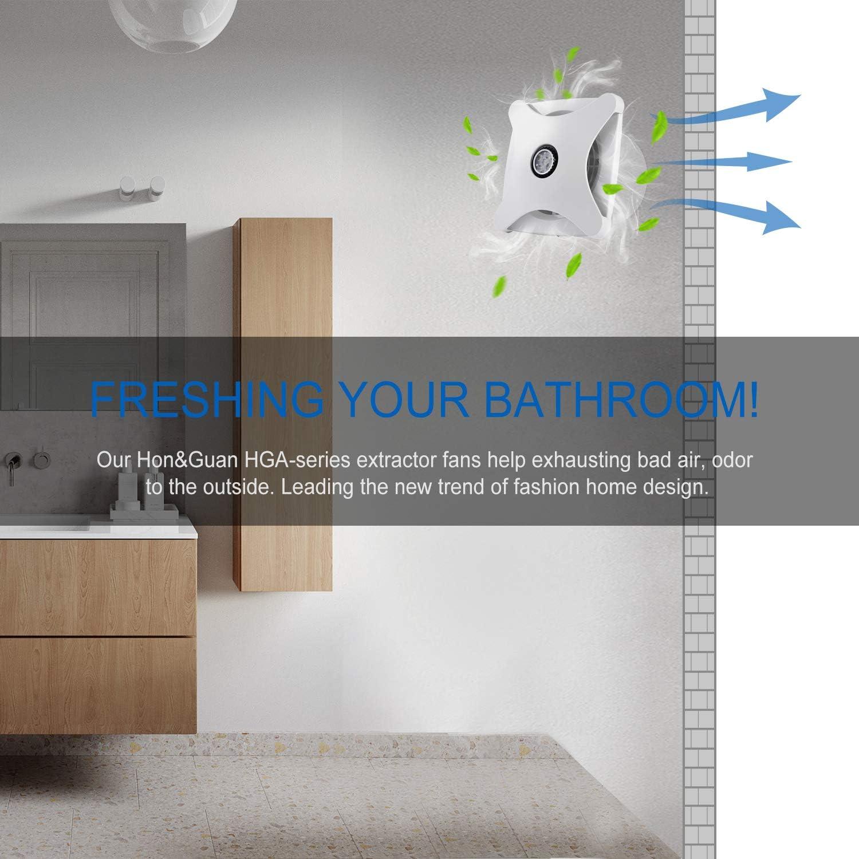 Hon&Guan 150mm Ventilador Extractor de Aire Silencioso 197m³/h para Oficina, Baño, Dormitorio (Modelo B -150mm): Amazon.es: Hogar