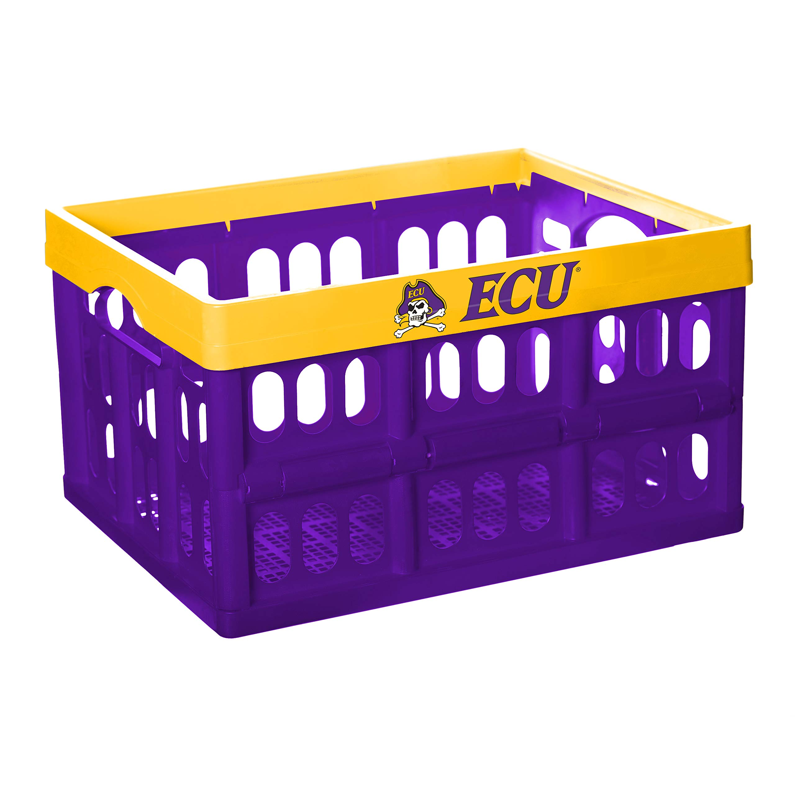 NCAA Fabrique Innovations Collapsible Crate, East Carolina Pirates