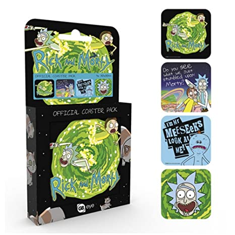 Amazon.com | Rick And Morty Official Coaster Pack (One Size ...