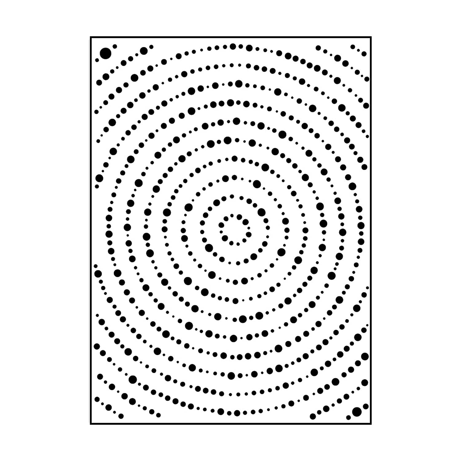 Carabelle Studio Embossing Folder - Template Big Circle Dots, Transparent AE60013