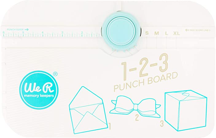 We R Memory Keepers 1-2-3 Punch Board, Blanco, 1 Pack: Amazon.es: Hogar