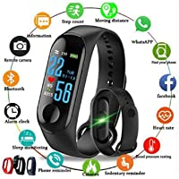 Dry Labs M3 Watch Fitness Tracker Heart Rate with Activity Tracker Waterproof Body Functions Like Steps Counter, Calorie Counter, Blood Pressure, Heart Rate Monitor LED Touchscreen