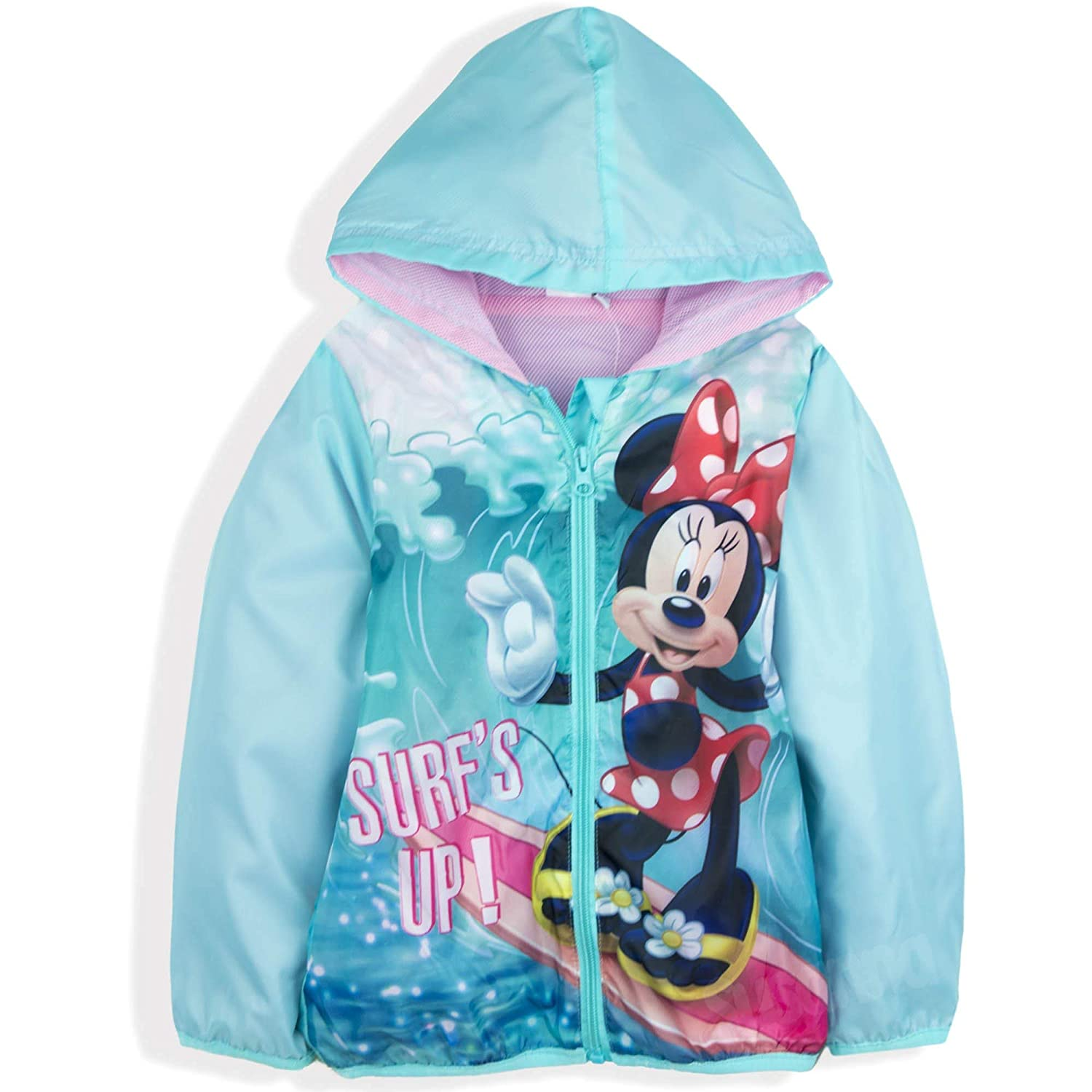 Spring Summer Lightweight Coat Windbreaker 3-8 Years New 2018 Disney Minnie Mmouse Official Licensed Girls Jacket