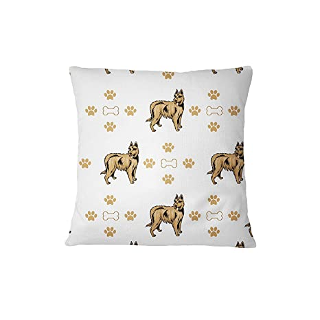 Berger Picard perro huesos patas sofá cama decoración del hogar funda de almohada almohada y cubierta
