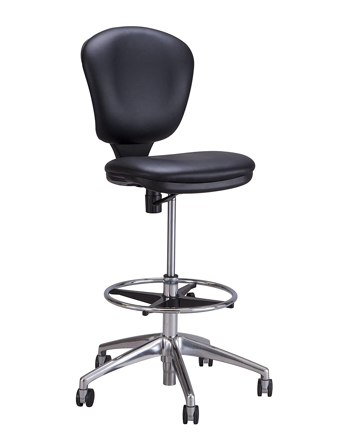 amazoncom safco products bl metro extended height chair  - amazoncom safco products bl metro extended height chair (additionaloptions sold separately) black kitchen  dining