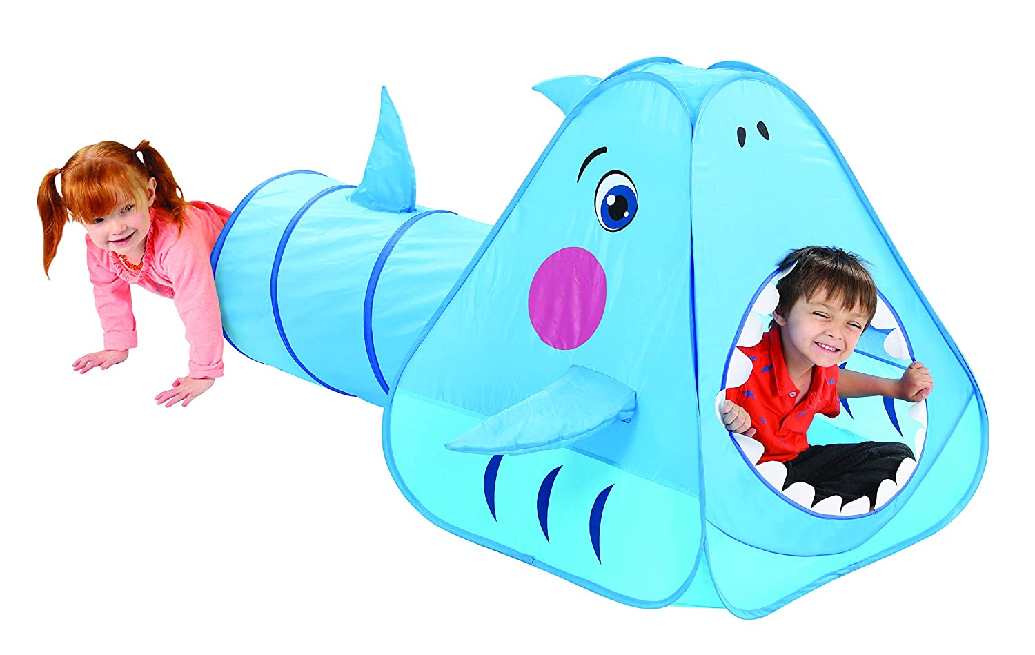 E.P. Indoor/Outdoor Shark Play Tent with Tunnel