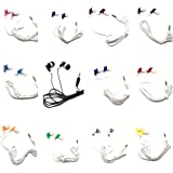 TFD Supplies Wholesale Bulk Earbuds Headphones 50 Pack for iPhone, Android, MP3 Player - Mixed Colors