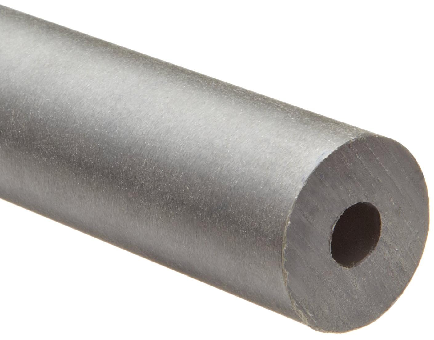 Gray Nylatron GS Nylon Round Tubing, 5/8'' OD, 3/8'' ID, 12'' Length