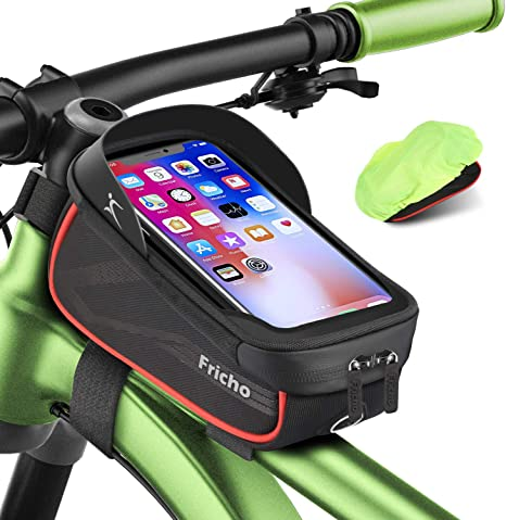Bike Frame Bag Gifts For Him Bicycle Bag Waterproof Phone Holder Bike Bags For Frame Top