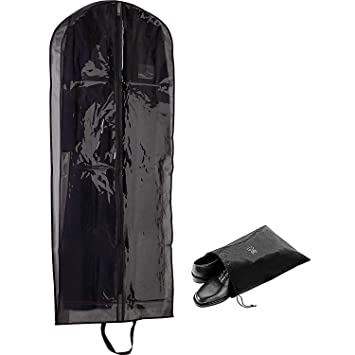 Amazon.com: Lujo cubierta de bolsa de ropa transparente | 5 ...