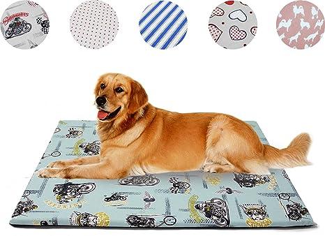 BPS Cama Colchoneta Cuna Portatil para Perros Gatos Colchón Manta Sofá Almohada Mascotas Suave 2 Tamaños (L 90x75x2.5 cm, Colchoneta Color Chico al ...