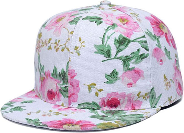 Chad Hope Korean Cloth Flower Plate Baseball Caps Spring Summer Flat Eaves Hip-hop Cap for Women Men Snapback