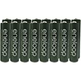 """Panasonic Eneloop AAA Nimh Pre-charged Rechargeable Batteries with Battery Holder - Rechargeable 2100 Times """" Special Green Color Eneloops"""" (Pack of 16)"""
