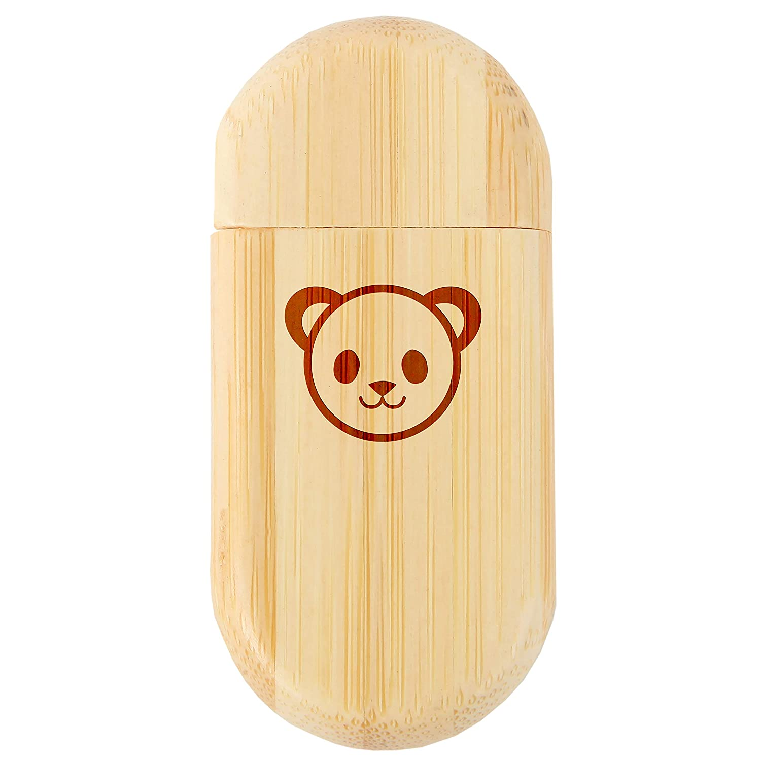 Panda Face 8Gb Bamboo USB Flash Drive with Rounded Corners 8Gb USB Gift for All Occasions Wood Flash Drive with Laser Engraving