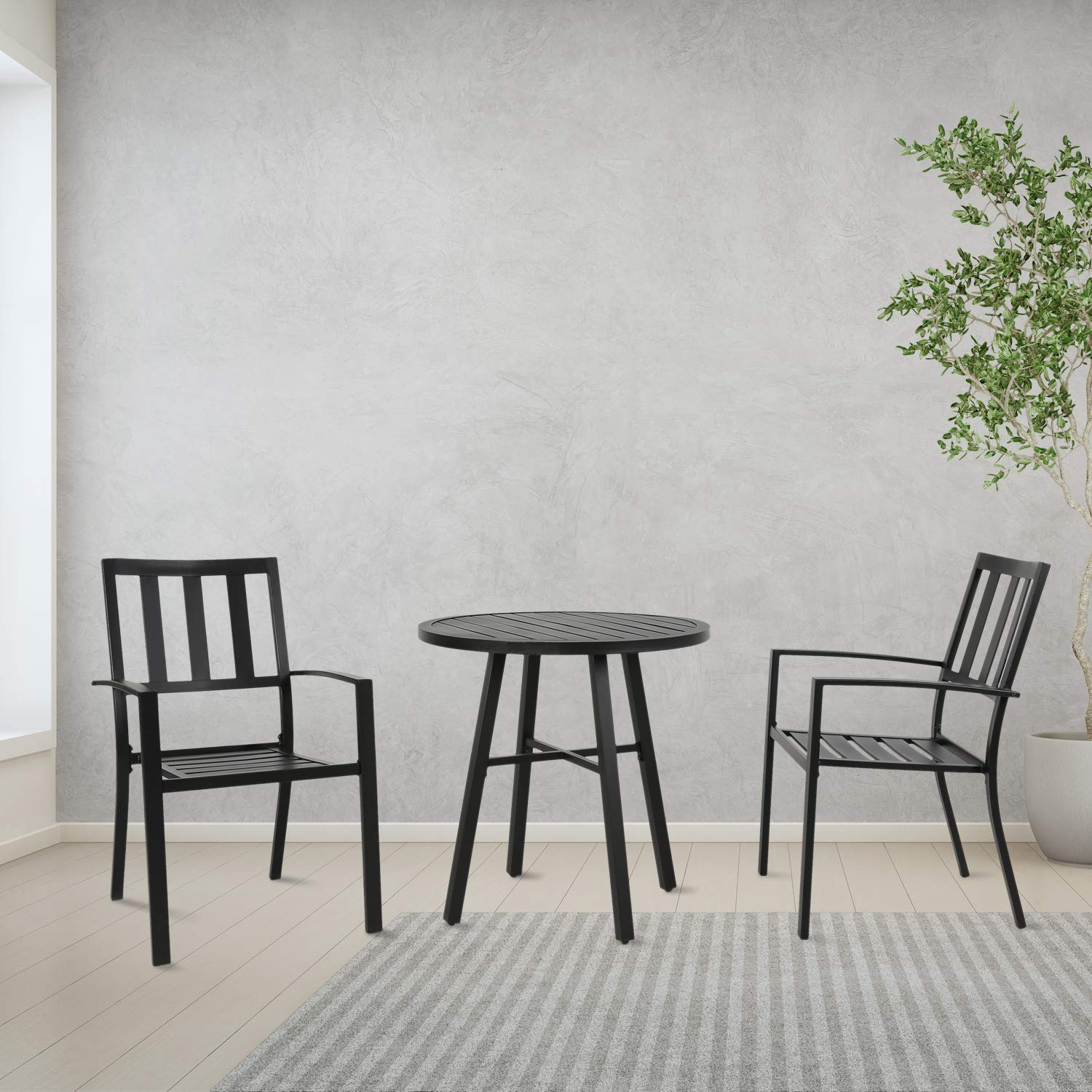 Ulax furniture Outdoor Round Side Table, Patio Coffee Bistro Table by Ulax furniture (Image #4)
