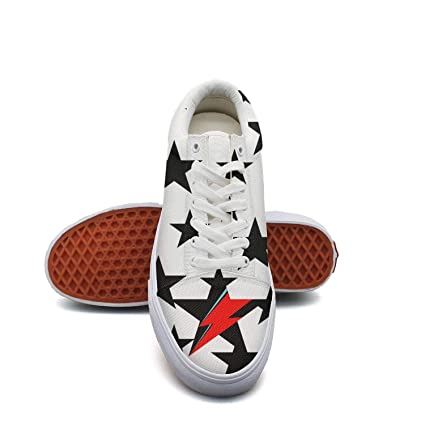 dc32eefa7461c KK ldfd David-Bowie-Ziggy-Stardust- Fashion Sneaker Loafers for Women  Canvas Upper Skate Shoes Slip-on Cut Low Top Lace up Flat Casual