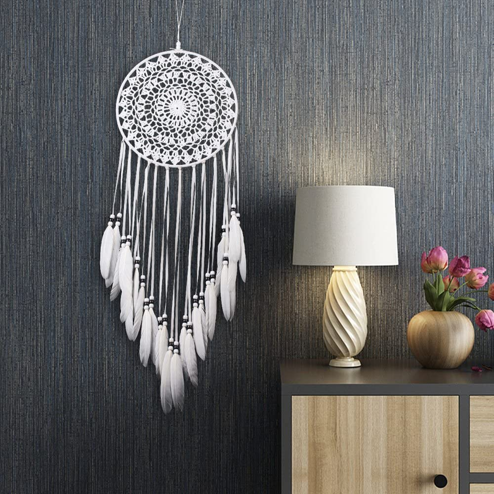 Large White Dream Catcher Indian Dreamcatcher /& Light Home Bedroom Hanging Gift