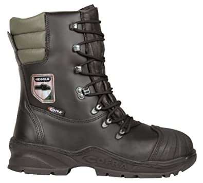 2d568cf78ff Cofra Power Chainsaw Safety Leather Boots - Class 2 Steel Toe Wide Water  Resistant