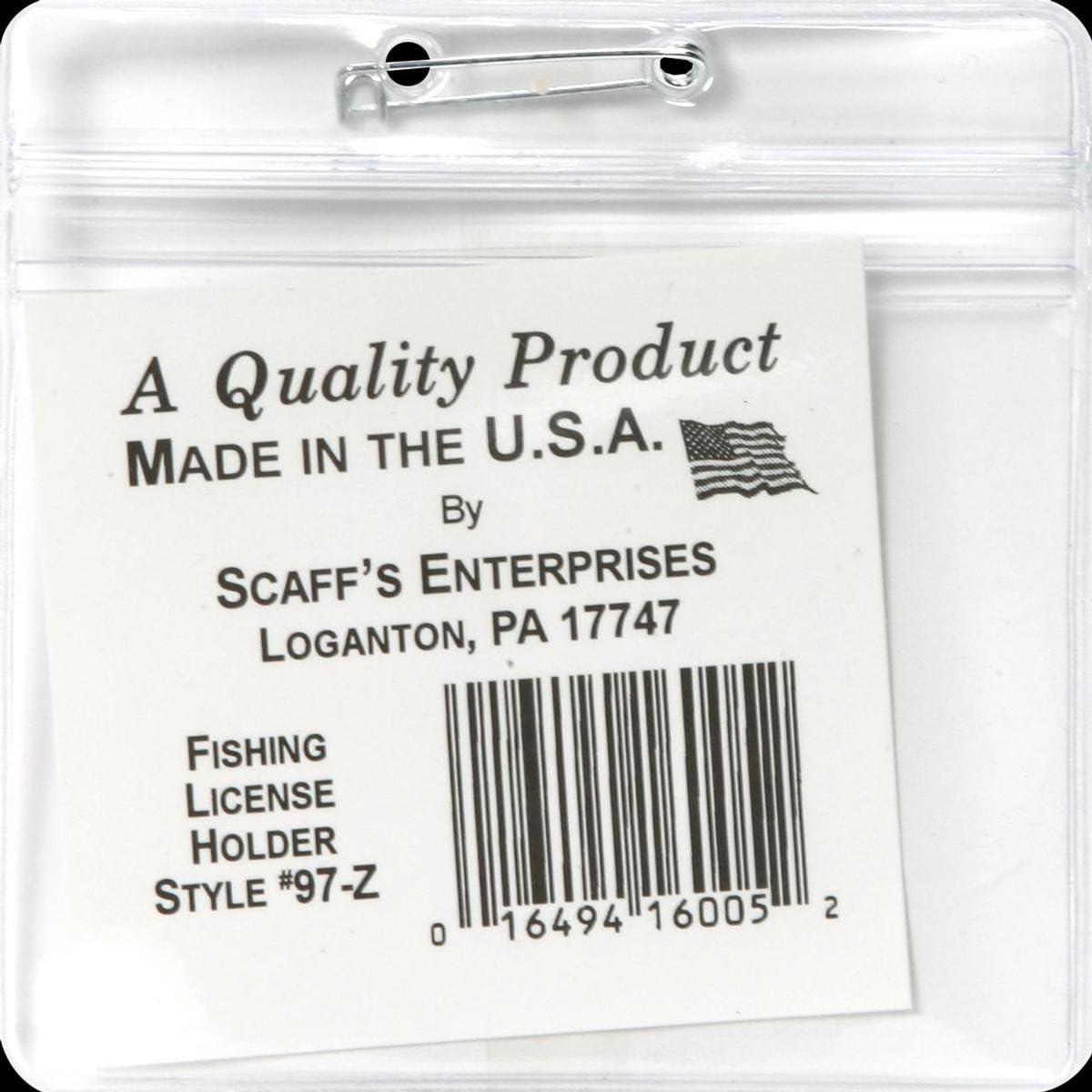 Scaffs Zip-Seal licence holder