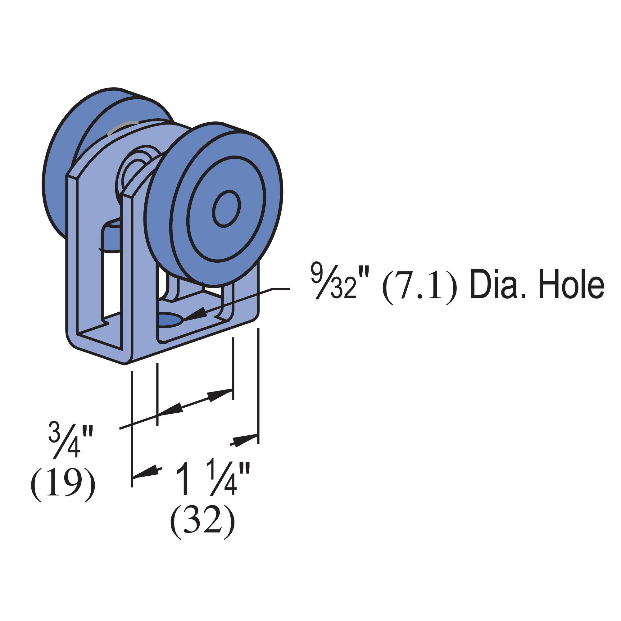 Genuine Unistrut P2749N EG Nylon Wheel Trolley - 2 Wheel Unistrut Trolley Support, 10 Lb Max Load by UNISTRUT (Image #1)