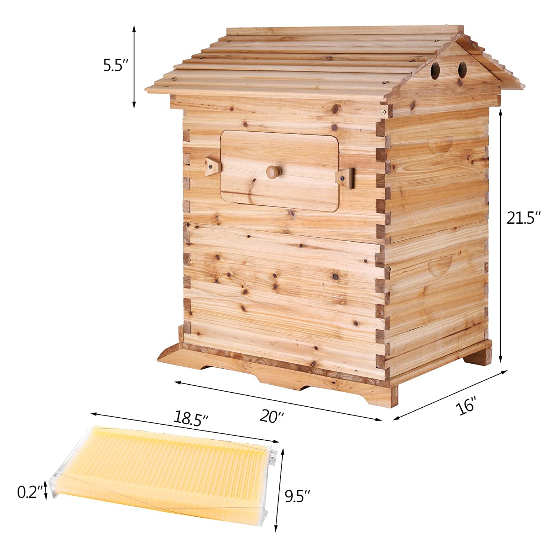 Amazon.com : Happybuy Beehive Frames Wooden Beehive Box Automatic ...