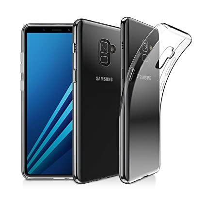 separation shoes 9593f 5366f Case Creation Transparent Flexible Soft Corner Protection with TPU Slim  Back Case Cover for Samsung Galaxy J8 (2018) (New Launch 2018) - Transparent