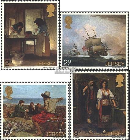 Prophila Collection GB-Jersey Block35 kompl.Ausg. 2002 Briefk/ästen Briefmarken f/ür Sammler