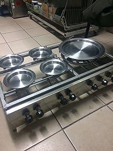 4 Small and 1 Big Burner Combo Set Kunafa Konafa Kanafeh Kunafah Kunefe Stove for Cooking Quarry 4 Small Plates and 1 Big Plate Included Works with Propane Gas (LPG)