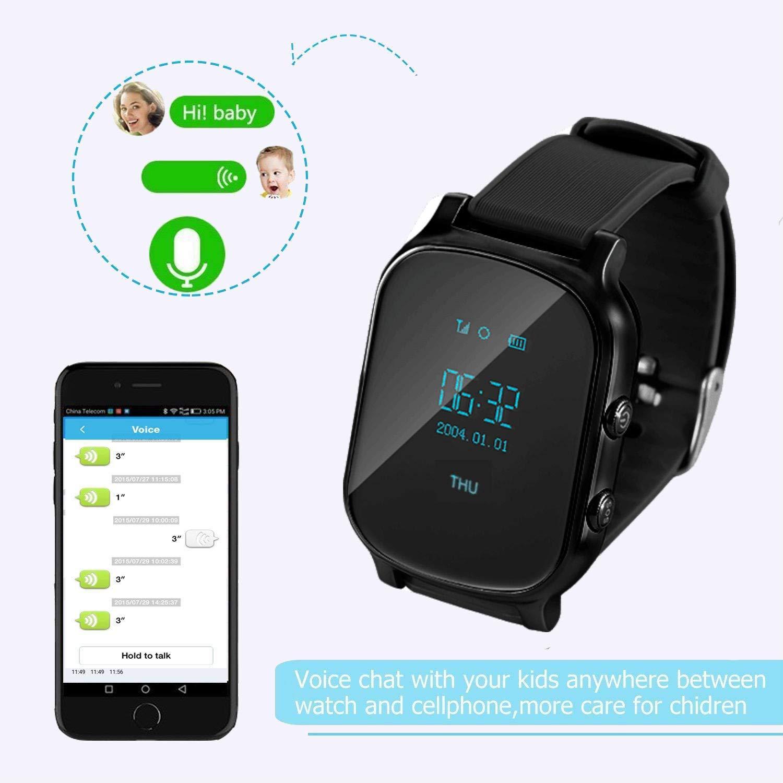 Reloj Inteligente Hombre GPS,Relojes Inteligentes para Mujer GPS Tracker Pulsera Inteligente Pulsera Actividad Reloj Infantil Pulsera Inteligente ...