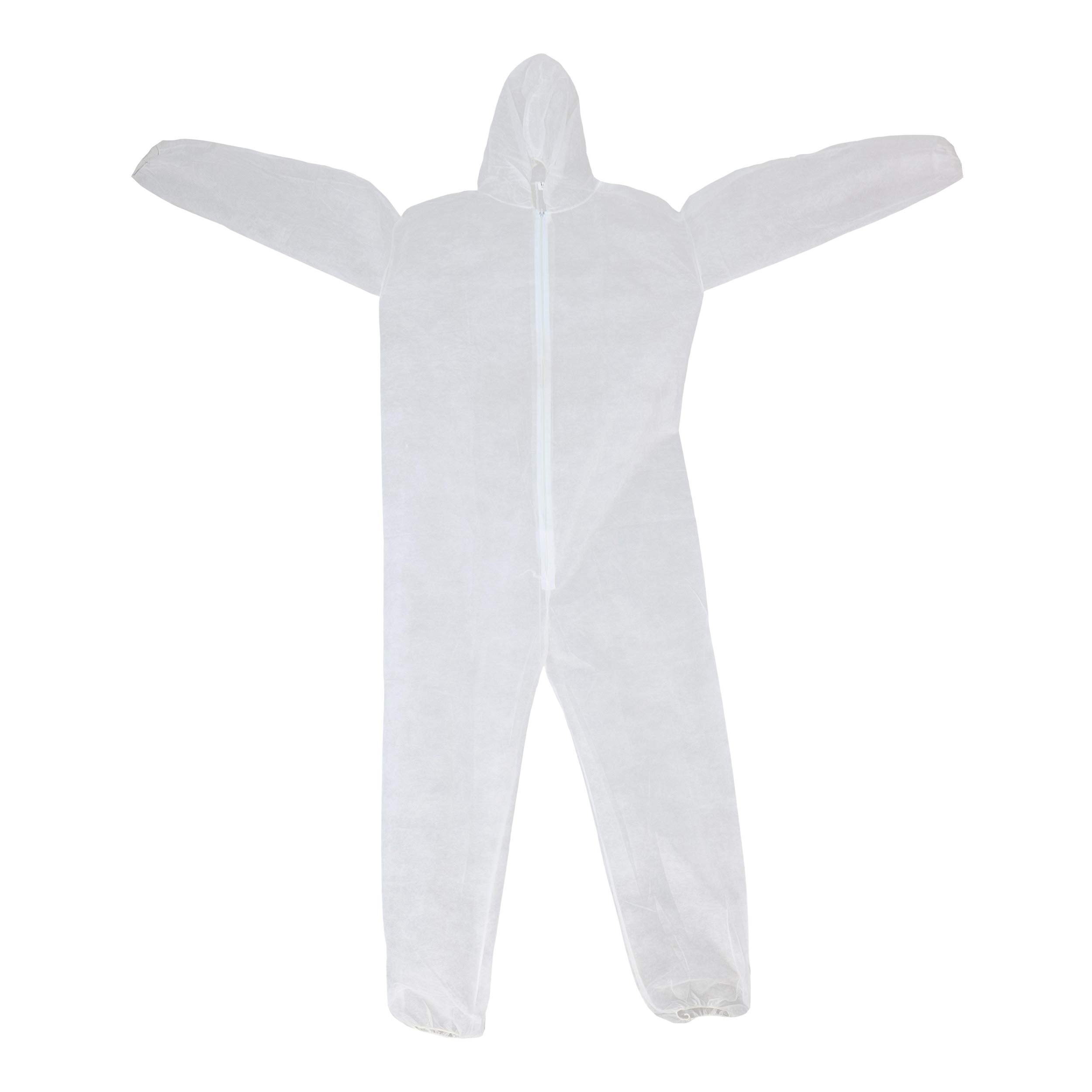 West Chester 3506 XX2XL WGT SBP Coverall Hood with Elastic Wrist & Ankles, 4XL, White (Pack of 25)