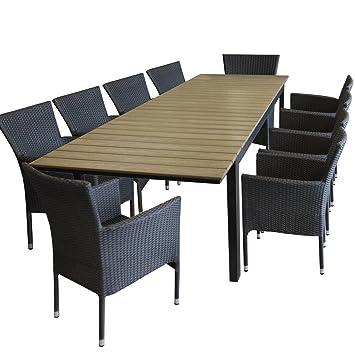 11tlg. Polywood de jardin table de jardin extensible 220/280 x 95 cm ...