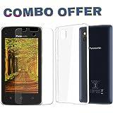 AVICA™ COMBO OFFER Premium Transparent Back Cover TPU +2.5D Tempered Glass For Panasonic T44