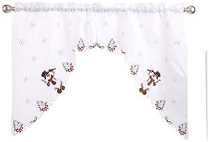 """LORRAINE HOME FASHIONS Snowmen, Window Curtain Swag, 58"""" x 36"""", Multi"""