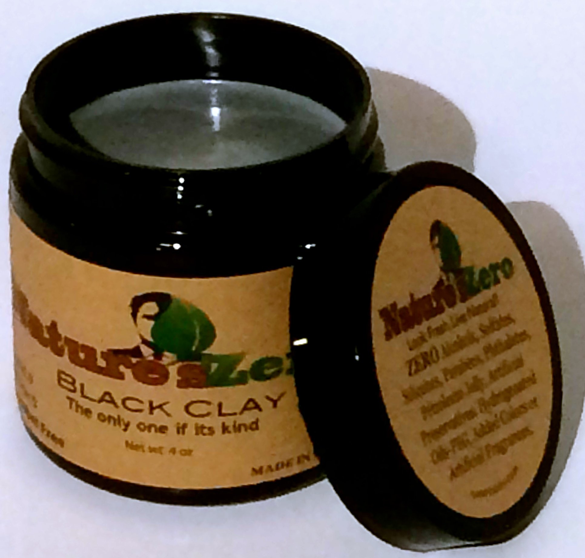 NATURE'S ZERO All-Natural, Handcrafted 4-Ounce Black Clay by Nature's Zero