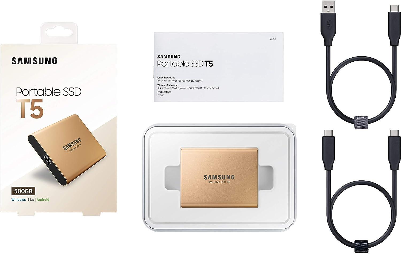 Samsung MU-PA500G//EU Portable SSD T5 500 GB USB 3.1 Externe SSD Rose Gold General/überholt
