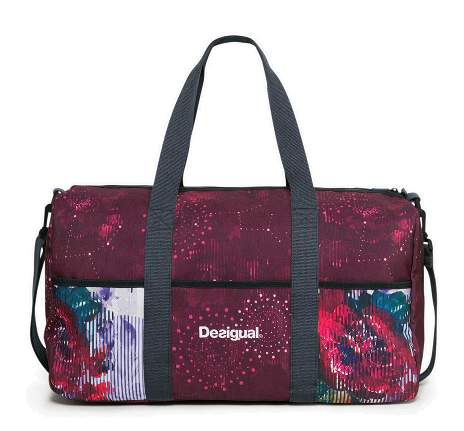 Desigual Sac 17WXRW25 Bols Gym Bag Night Garden 3037 Rojo AB 100776