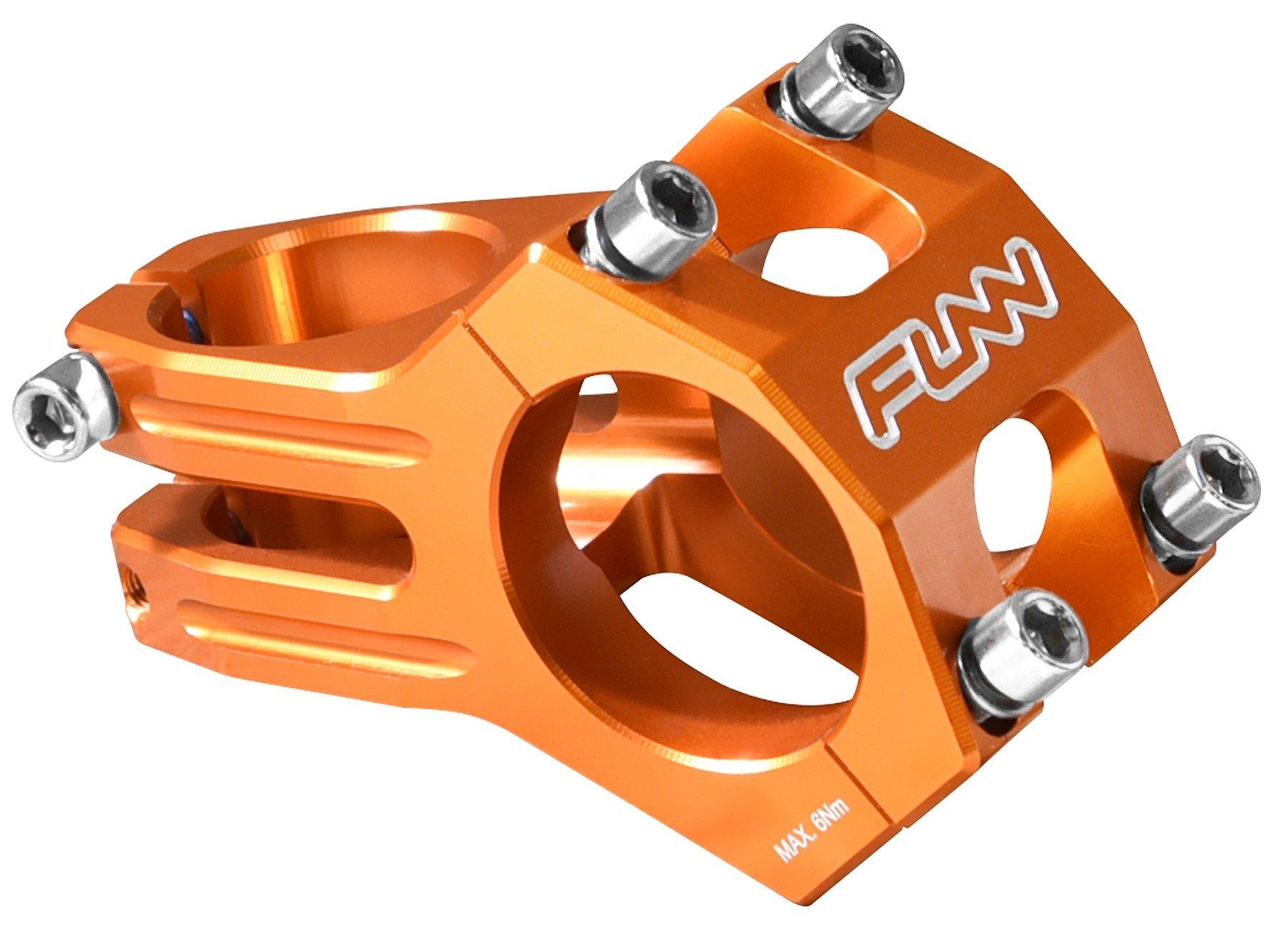 Funn Funnduro MTB Stem, Bar Clamp 31.8mm (Length 60mm, Orange) by Funn
