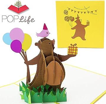 Amazon.com: PopLife - Tarjeta de felicitación 3D con diseño ...