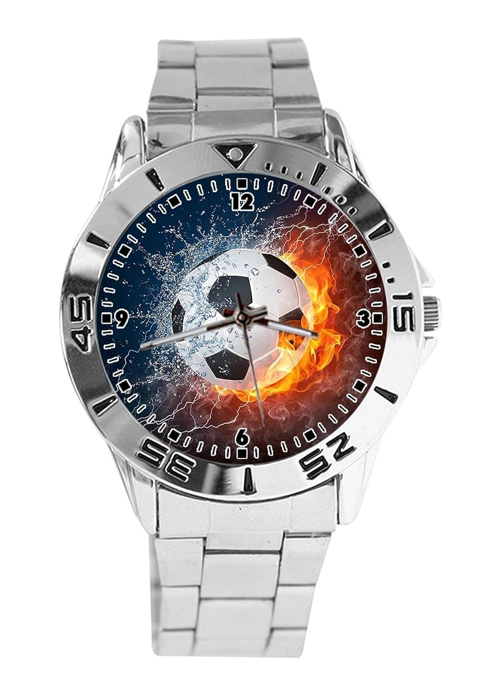 Reloj de Pulsera analógico con diseño de balón de fútbol, Cuarzo ...