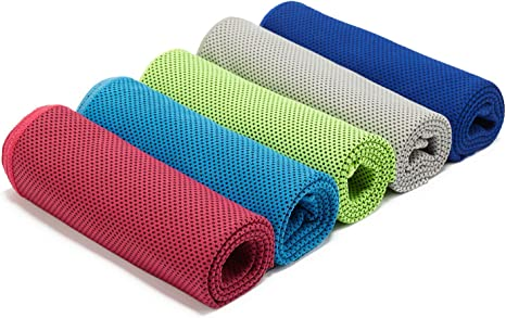 4 Pack Ice Cold Instant Cooling Towel Running Jogging Gym Chilly Cycling Sport