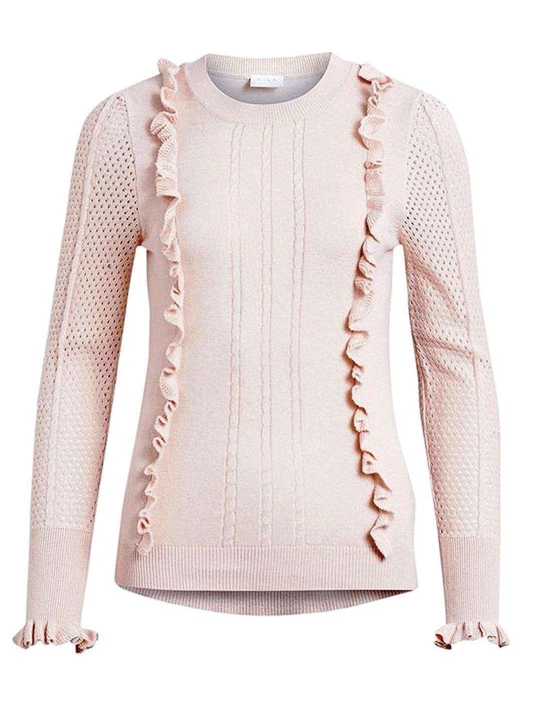 TALLA XL. Vila Vitilli L/S Knit Top/PB, suéter para Mujer