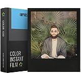 Impossible 4515 Pellicole Istantantanee a Colori, Black Frame, per Fotocamere Polaroid Serie 600 e Impossibile I-1, Nero