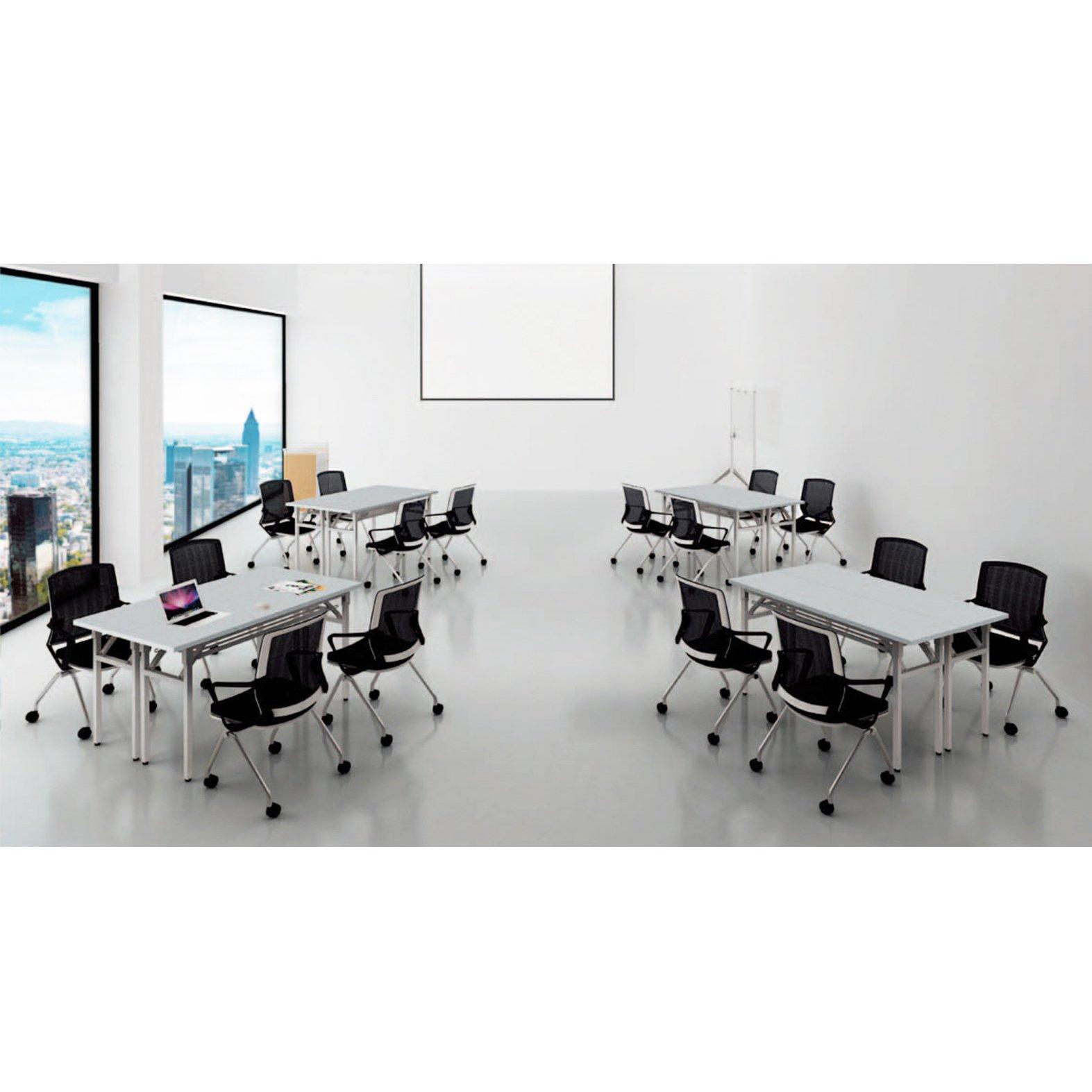 Sunon Folding Training Table 55'' Rectangle Wood Folding Table for Training/Meeting Room (White, 55-Inch Length) by Sunon (Image #6)