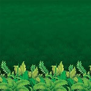 Jungle Foliage Backdrop Party Accessory (1 Count) (1/pkg) Pkg/3